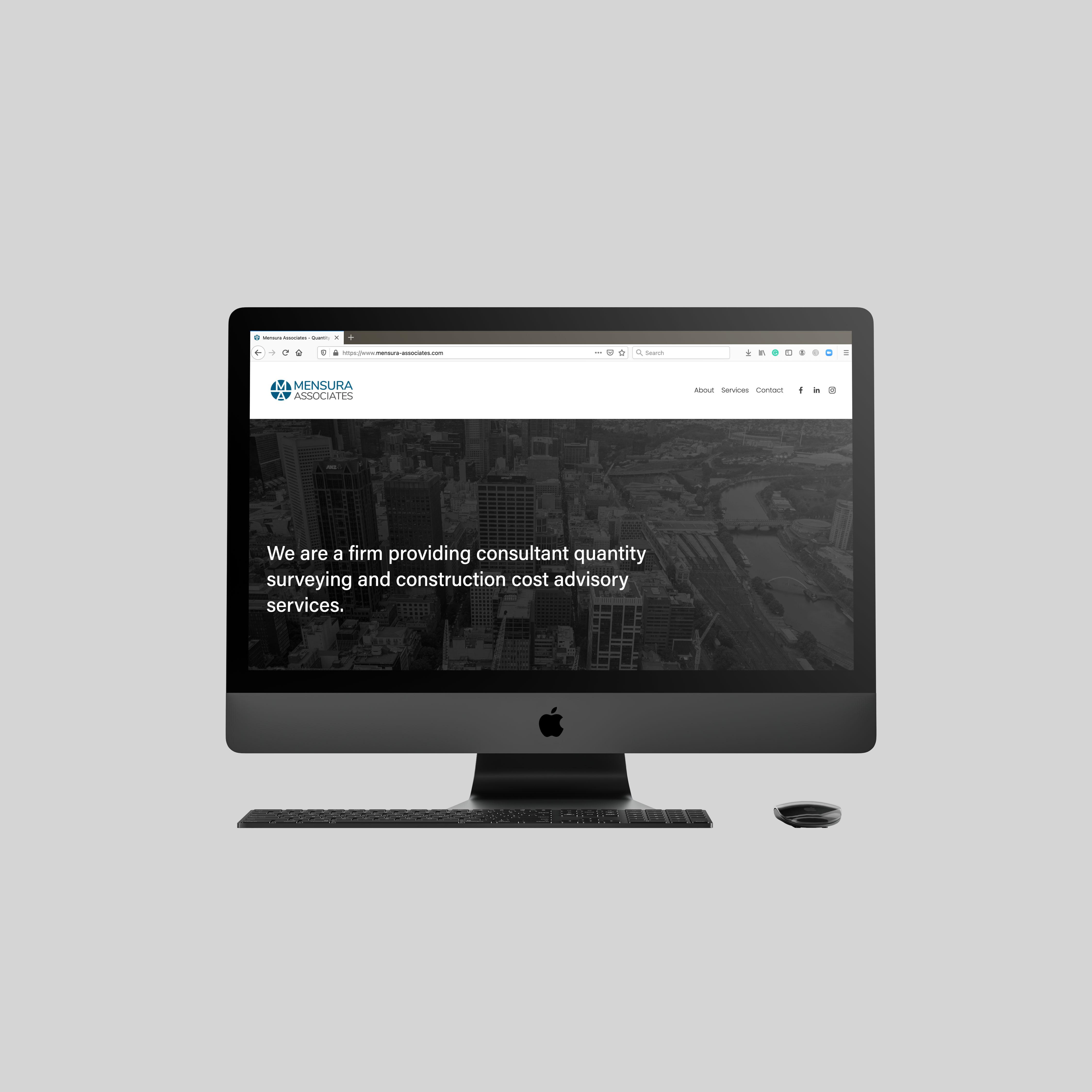 Mensura Associates - Web Design